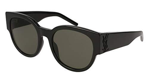 Saint Laurent Damen SL M19 001 Sonnenbrille, Schwarz (1/GREY), 54
