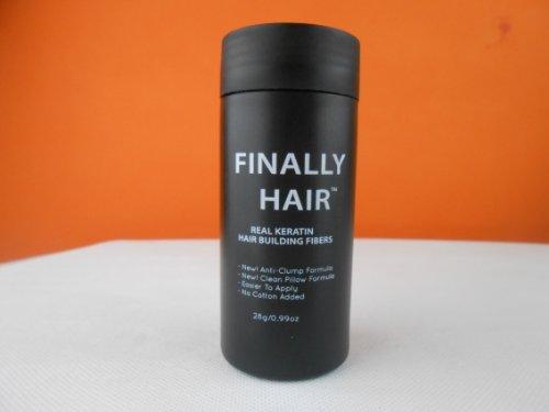 Hair Building Fibers Black Hair Loss Concealer Fiber 28 Gram .99oz Refillable Bottle by Finally Hair...
