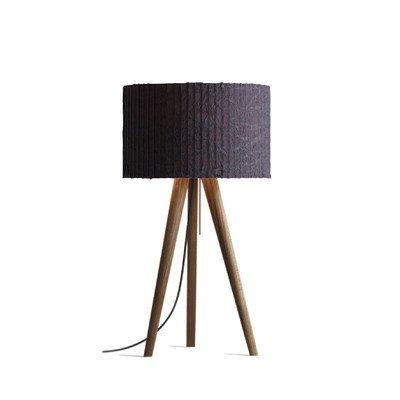 70 cm tafellamp Sten schermkleur: Grafiet, framekleur: notenhout geolied/zwart