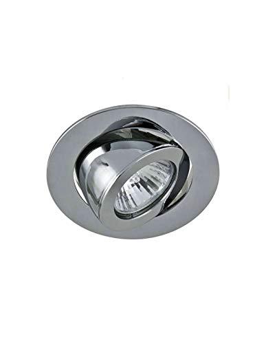 Spot encastrable orientable rond aluminium type escargot - Aluminium mat - GU10