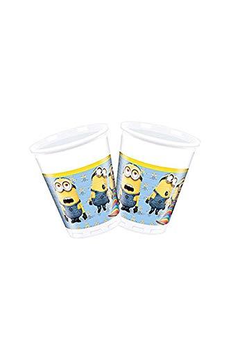 Procos 87177 Minions Lovely kunststof beker (200 ml) geel/blauw