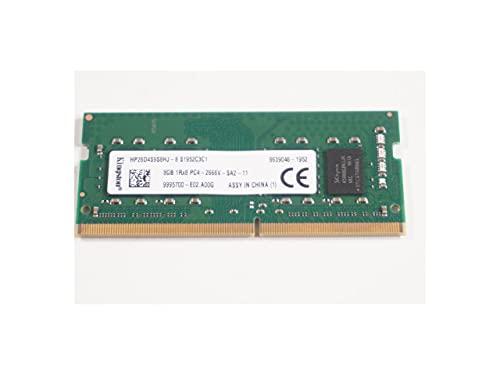 Kingston HP26D4S9S8HJ-8-8GB 2666MHz CL19 DDR4 SODIMM PC4-21300 RAM sin ECC para portátiles, todo en uno y minis de escritorio