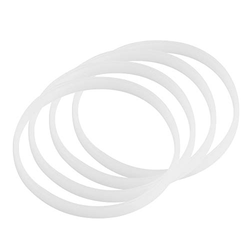 Fdit 4PCS White Rubber Sealing O-Ring Replacement Gasket Rubber Seal Ring Rubber...