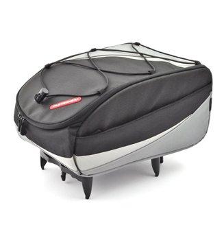 PLETSCHER Freizeit Tasche mit easy-fix Adapter schwarz/silber