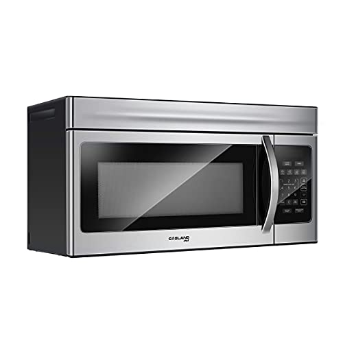 """30 Inch Over-the-Range Microwave Oven, GASLAND Chef Over The Stove Microwave Oven with 1.6 Cu. Ft. Capacity, 1000 Watts, 120V, 13"""" Glass Turntable, 300 CFM in Stainless Steel"""