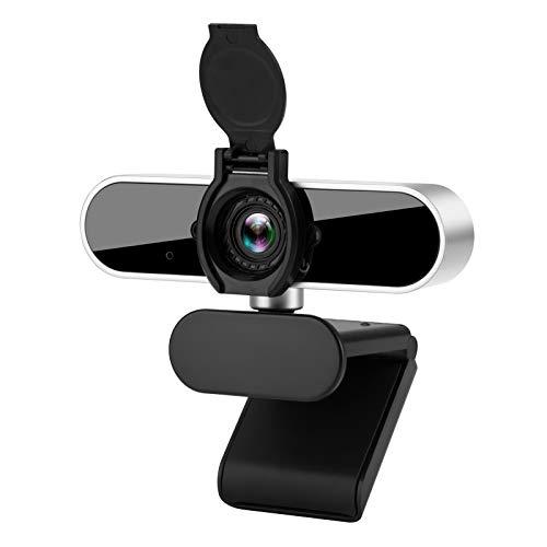 Phinistec Webcam 1080P mit Mikrofon, Kamera USB 2.0 Plug und Play für PC, Laptop, Desktop, Computer, mit Objektivdeckel, für Live-Streaming, Videokonferenz, Online-Unterricht, Spiel