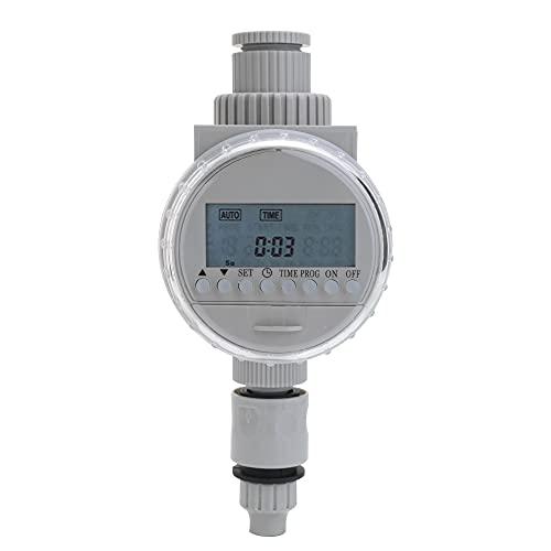 skrskr White Solar Power LCD Screen Garden Irrigation Control Auto risparmio idrico Controller di irrigazione Timer digitale per irrigazione