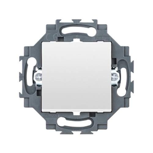 Cruzamiento 1P, 250 V ac, borne de conexionado rápido, 10 AX, iluminable, neutro, serie Dahlia, 3,53 x 7,29 x 7,29 centímetros, color blanco (Referencia: GW35021W)