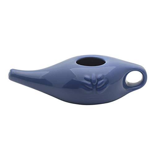 Neti Pot Nasenspülung Aus Keramik, Nasenspülkännchen Mit Griff, Nasendusche, Natürliche Behandlung Von Infektionen Nebenhöhlen (19x9x6cm)