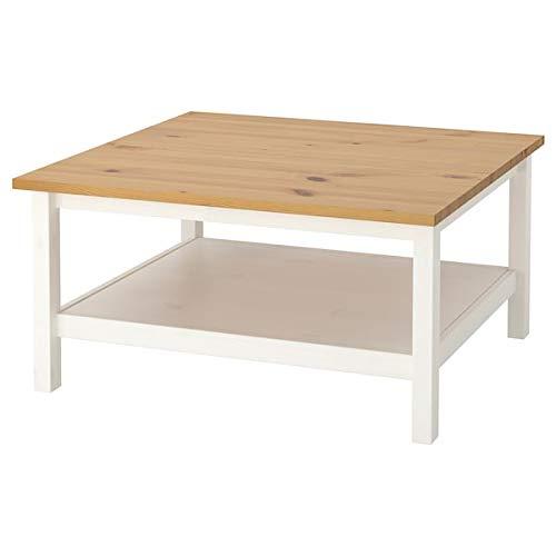 Tok Mark Traders HEMNES Couchtisch, weiß gebeizt, hellbraun, 90 x 90 cm, langlebig und pflegeleicht.Couchtische & Beistelltische.Tische & Schreibtische Möbel Umweltfreundlich