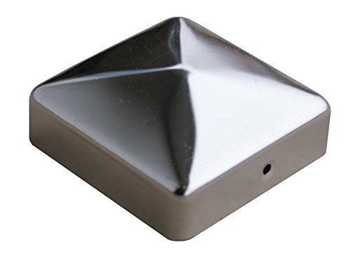 Preisvergleich Produktbild Pfostenkappe für Holzpfosten Edelstahl 70 x 70 mm