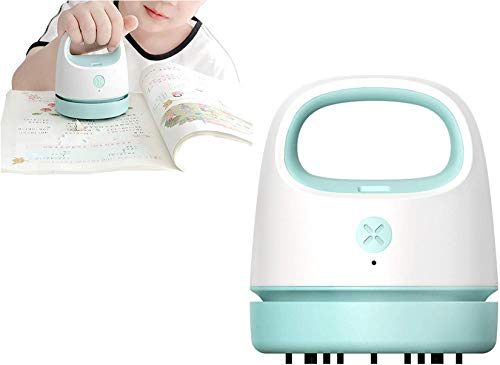 Desktop Vacuum Cleaner,Mini Table Dust Sweeper with Clean Brush and Vacuum Nozzle, USB Charging, Best for Cleaning Crumbs for Home/School/Office