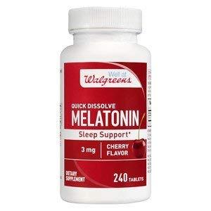 Walgreens Melatonin Sleep Support 3mg, Quick Dissolve Tablets, Cherry, 240 ea