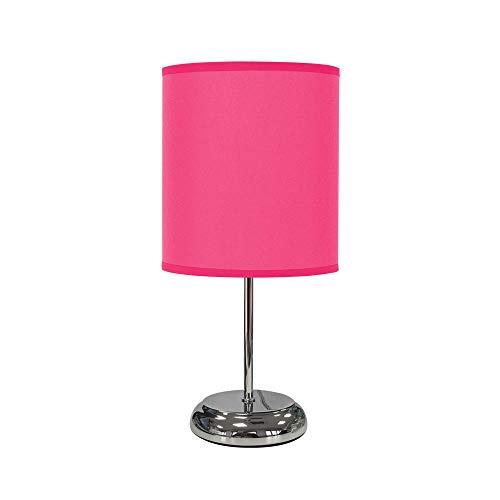 TODOLAMPARA - Lámpara de mesa de tela modelo Nicole fucsia