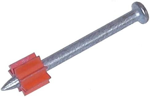 "Construction Fastening Nail 3/"" Powder Actuated Fastener Drive Pin w// 1/"" Washer"