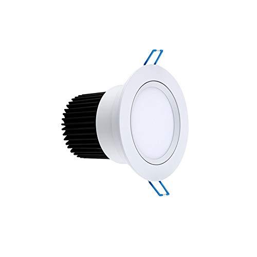 Luz de trabajo Empotrique inolvidable de Downlight resalte el accesorio de la luz del techo 3 0W 3000K 6000K Lavar luces de pared, diámetro del orificio 12 5MM AC110 ~ 240V Foco a prueba de humedad aj