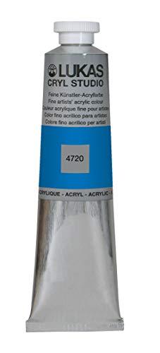 LUKAS Cryl Studio 75 ml, Acrylfarbe in Premium-Qualität, Cyan (Primär-Blau)