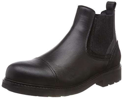 Tommy Hilfiger Herren Active Leather Chelsea Boots, Schwarz (Black 990), 45 EU