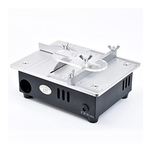 Tornos de potencia Mini sierra de mesa multifuncional Sierras eléctricas Sierras de escritorio pequeño Bricolaje Herramienta de corte Máquina de torno de carpintería Conjunto de herramientas