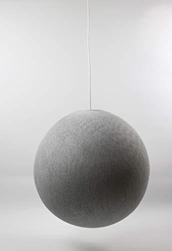 Cotton Ball Lights hell grau 41cm Hängelampe einzeln, Baumwolle, 41 cm