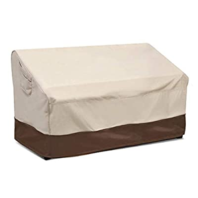 Vailge 2-Seater Heavy Duty Patio Deep Bench Loveseat Cover,100% Waterproof Outdoor Deep Sofa Cover,Large Lawn Furniture Cover with Air Vent
