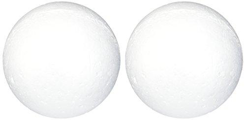 Darice 01258P 2-Piece Dura Foam Balls, 4-Inch