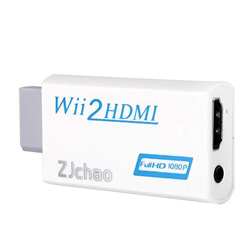 Lazmin112 Adattatore da Wii a HDMI, Convertitore da Wii a HDMI Uscita Full HD 720P 1080P Uscita Video Audio da 3,5 mm Upscaling per Monitor HDTV