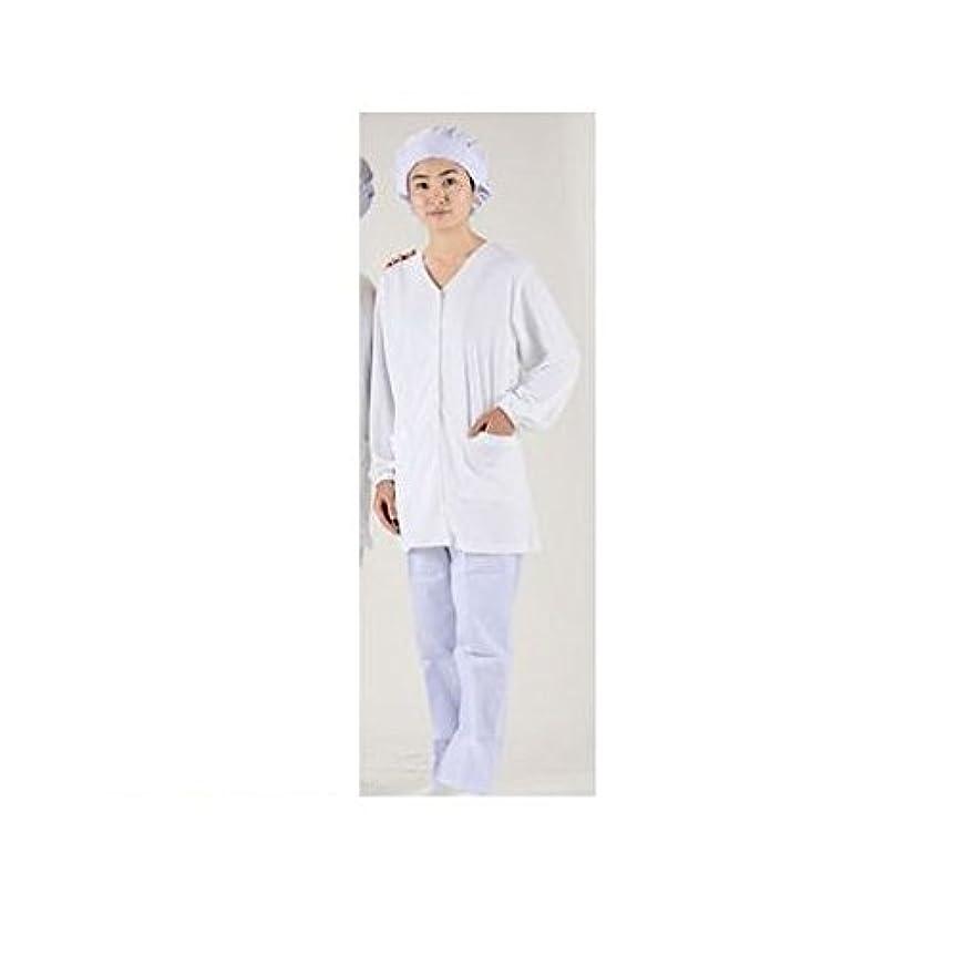 スキム失礼債権者CV46529 テクノファインコート 女子襟無し長袖白衣 NR-448 LL