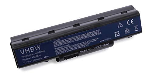 Batterie Li-ION 6600mAh (11,1 V) pour Emachines D525, D725. Remplace Les Batteries: AS07A31, AS07A32, AS07A41, AS07A42, AS07A51,etc.