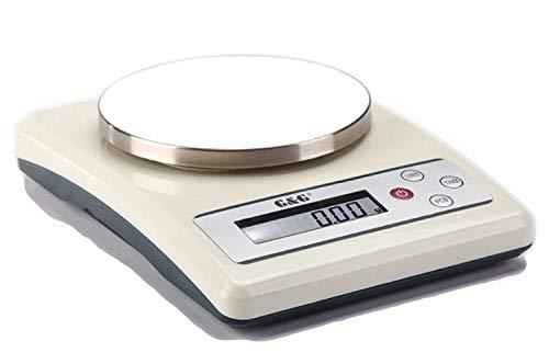 G & G - Bilancia da cucina, da lettera, da tavolo, KF500 g/ 0,01-3000 g/ 6000 g-10 kg, bianco crema, KF501A: 500g/0,01g