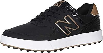 New Balance Men's 574 Greens Golf Shoe, Black, 11