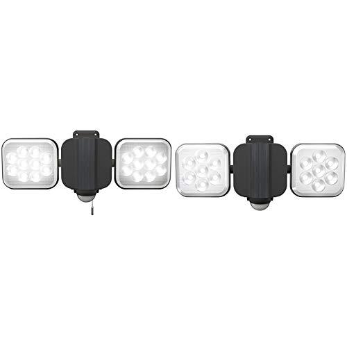 【セット買い】ムサシ RITEX フリーアーム式LEDセンサーライト(12W×2灯) 「コンセント式」 防雨型 LED-AC2024 & RITEX フリーアーム式LEDセンサーライト(8W×2灯) 「コンセント式」 防雨型 LED-AC2016