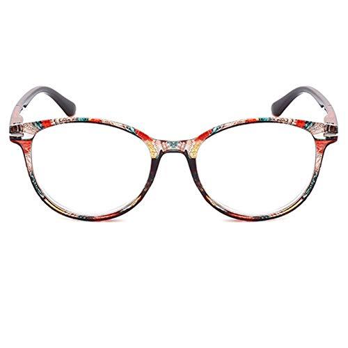 YUNCAT Lesebrille Vintage Damen Herren Federscharnier Oval Rund Blumen Lesehilfe Sehhilfe Brille Leicht