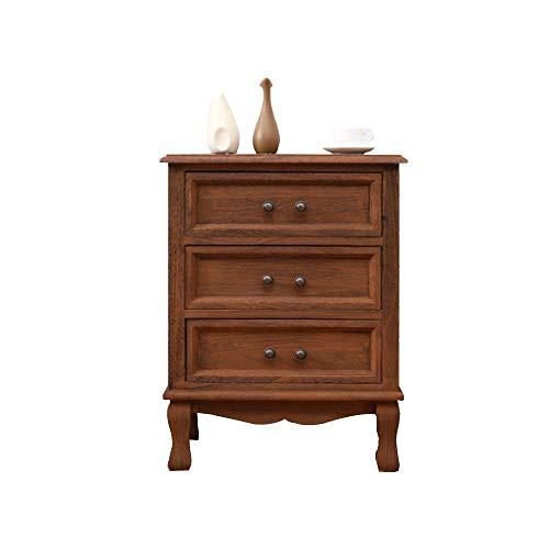 Table pliante YANFEI, Table de Chevet, Armoire de Rangement à Trois Niveaux pour tiroir de Chambre à Coucher en Bois Massif - 40X35X55CM / 12\