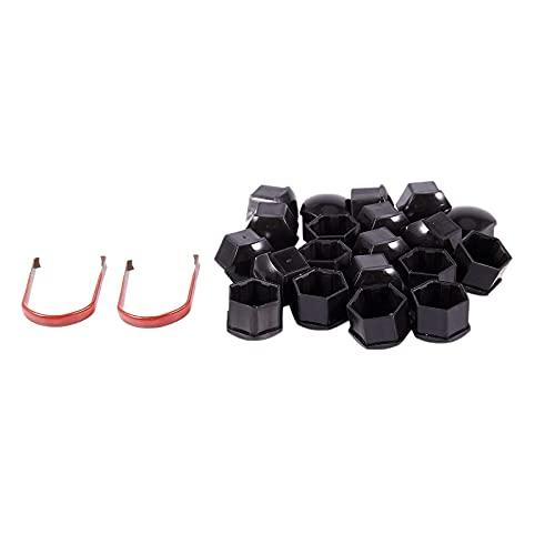 MZWNQ Tapa de Tuerca de Rueda Nuevo 20 Piezas 17 mm Tapas de plástico para Coche Pernos Cubre Tuercas, para Mercedes para BMW