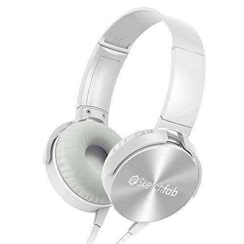 Sketchfab Extra bass Headphones Wireless Over Ear Headset...