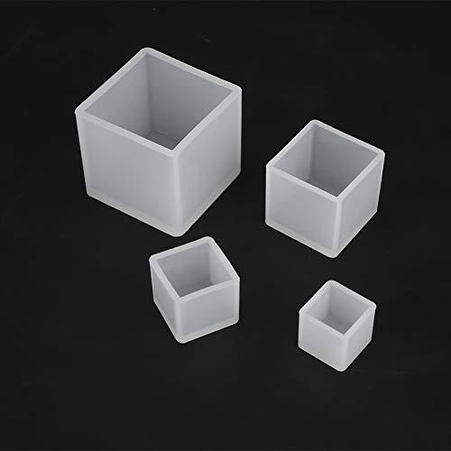 Annadue Molde de Resina, Molde de joyería de Diferentes tamaños, 4 Piezas/Juego para fabricación de Joyas para fundición de Resina