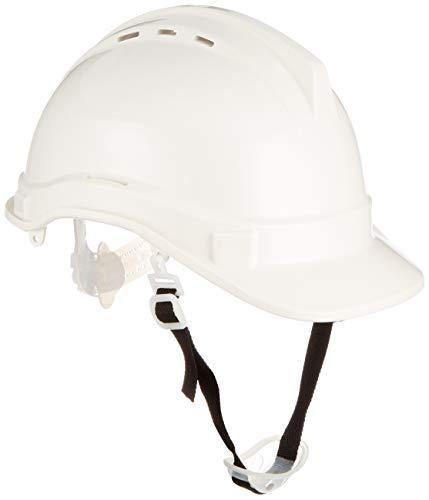 Silverline 868532 - Casco de seguridad (Blanco)
