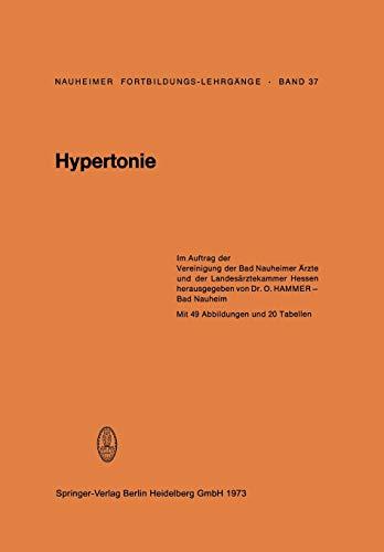 Hypertonie: Band 37: Hypertonie (German Edition) (Nauheimer Fortbildungslehrgänge (37), Band 37)