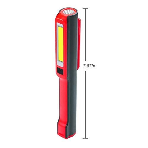 Waterdicht COB Work Light Outdoor-rugzak, draagbaar inspectielicht met hoge helderheid en 120 graden draaibare magneet. USB-oplader voor buitenapparaten.
