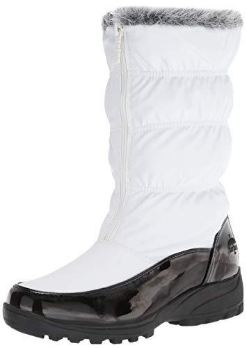 Khombu Women's Carmela Ruched Snow Boot, White, 7