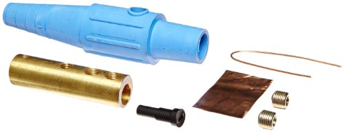 Marinco CLS20FB-D CLS Cam Type, Series 16 Inline, Single Pin Connector, 400 Amp, 600 Volt, 2-2/0 AWG, Female - Blue (D)