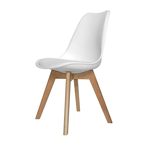 Ventamueblesonline Silla New Tower Wood Blanca Extra Quality