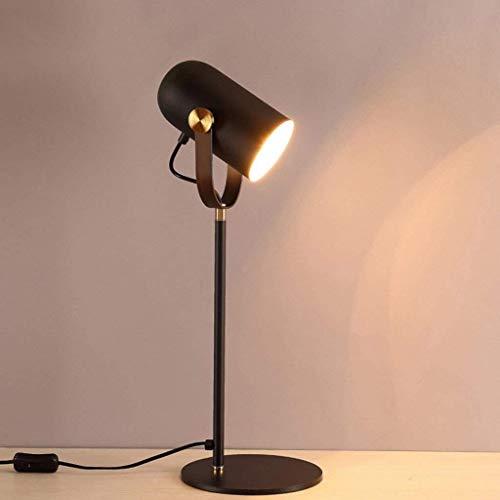 DJSMtd 23,6 Pulgadas de Hierro Negro Tabla iluminación de la lámpara Ajustable de Aprendizaje Protección de los Ojos ángulo lámpara de Escritorio de la Sala de Estar Dormitorio lámpara de cabecera