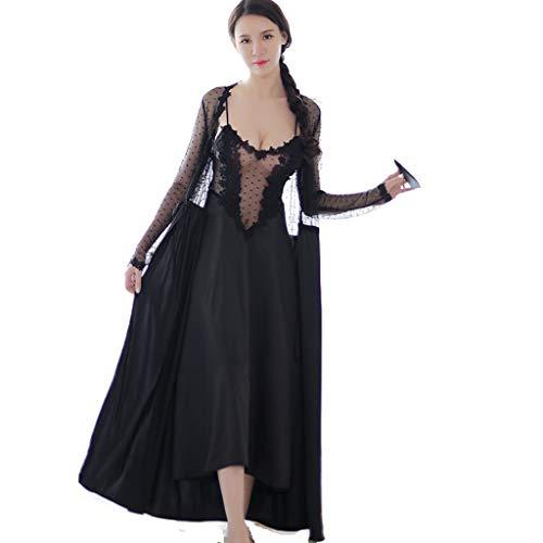 Pigiama Lingerie Erotica Black Swan Princess Witch Prospettiva Nightdress (Colore : Nero, Dimensioni : 0)