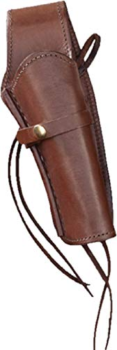 """Western Express – Right – for 6"""" Brown Smooth Leather Gun Holster (.44 .45 Caliber)"""