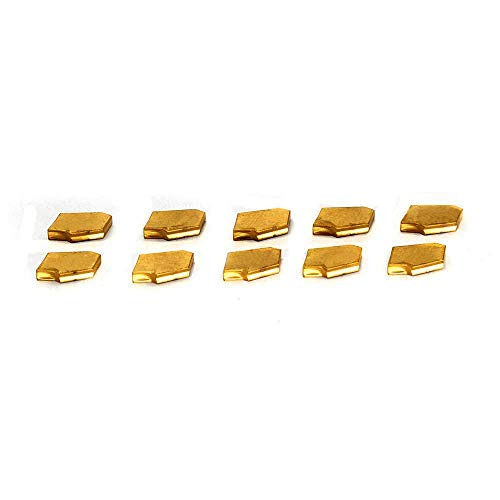 OSCARBIDE GTN-2(QC1402) Carbide Grooving Inserts Multilayer Coated CNC Lathe Carbide Cutters Inserts for Lathe Grooving Cut-Off Tool,10 Pieces/Pack