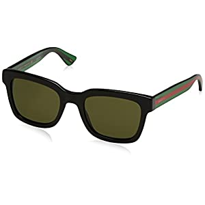 Fashion Shopping Gucci Fashion Sunglasses, 52/21/145, Black / Green / Green