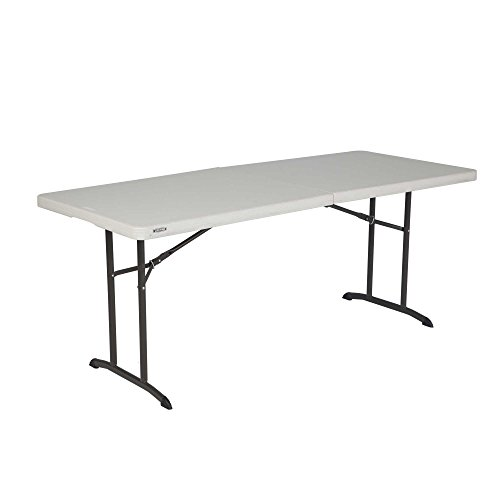 Lifetime à Vie 80680 1,8 m Commercial Table Pliante, Amande, 94 x 76.2 x  9.2 cm