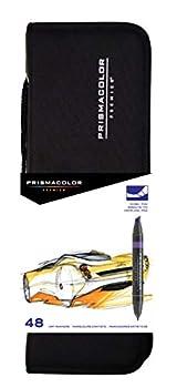 Prismacolor 98 BEROL Marker 48PC.Set 48-Count with Case Assorted Colors